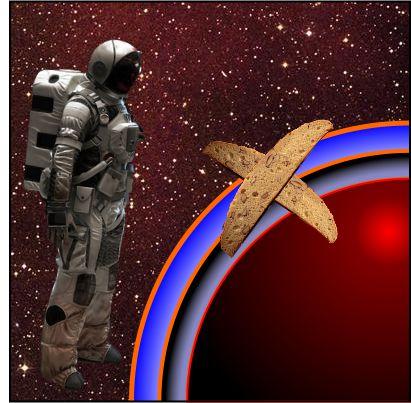 Astronaut and biscotti