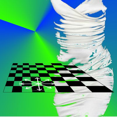 White satin and chessboard 1
