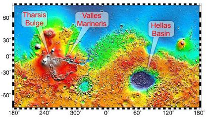 Labeled Mars map 2 420